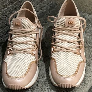 Michael Kors leather and mesh sneaker